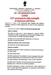 locandina con il programma dell'evento