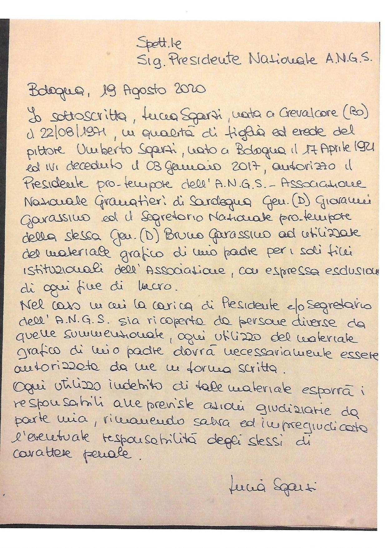 Lettera Signora Lucia-Sgarzi